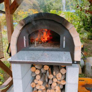 耐熱レンガのピッザ