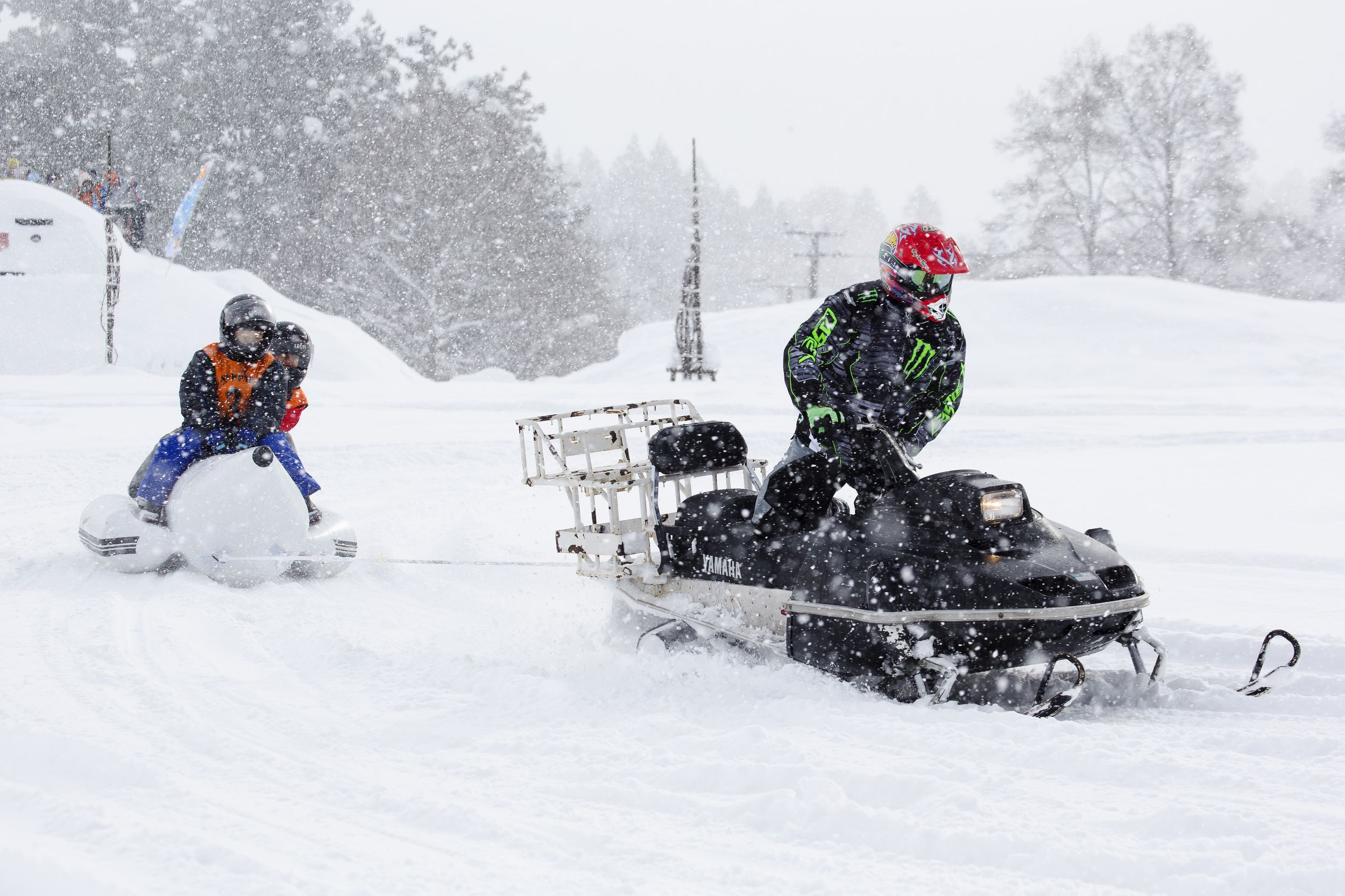 Try a thrilling snowmobile